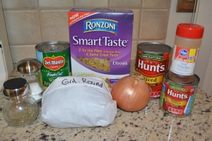 Mexican style goulash ingredients