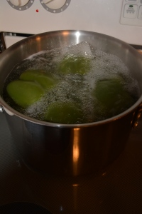 Boiling peppers