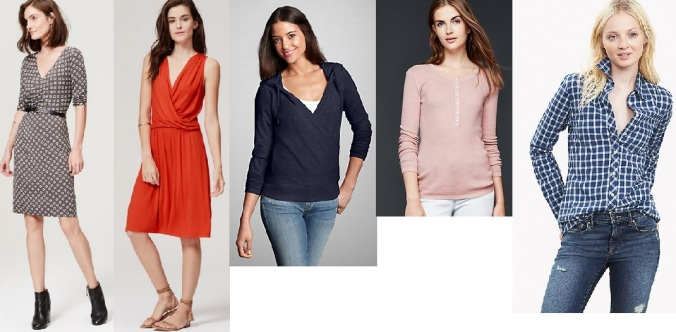 nursing tops and nursing dresses